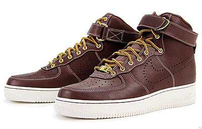 NIKE AIR FORCE 1 HI PREMIUM LEATHER [TEAM RED|HIKING BOOTS PACK]