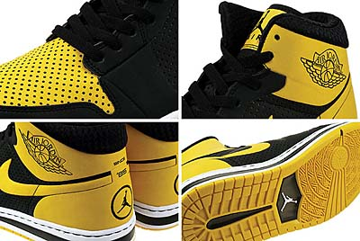 NIKE AIR JORDAN ALPHA 1 [BLACK/VARSITY MAIZE-WHITE] 写真1