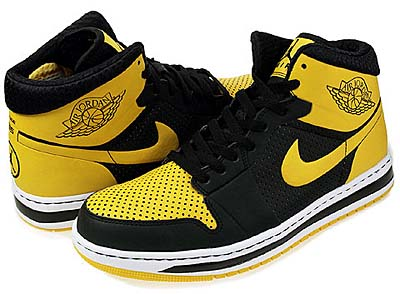 NIKE AIR JORDAN ALPHA 1 [BLACK/VARSITY MAIZE-WHITE]