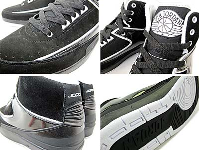 NIKE AIR JORDAN 2 RETRO QF [BLACK/WHITE] 395709-001 写真1