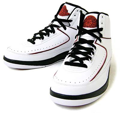 NIKE AIR JORDAN 2 RETRO QF [WHITE/BLACK-VARSITY RED] 写真1