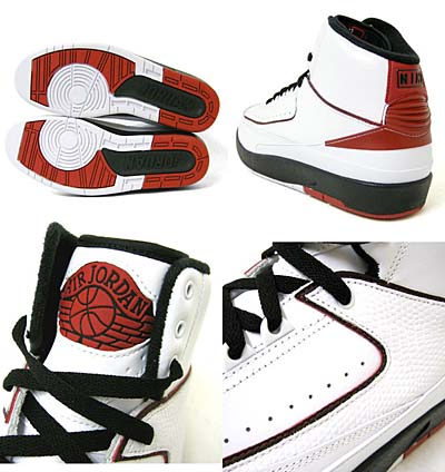 NIKE AIR JORDAN 2 RETRO QF [WHITE/BLACK-VARSITY RED] 写真2
