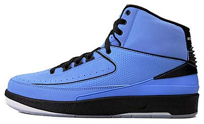 NIKE AIR JORDAN 2 RETRO [UNIVERSITY BLUE/BLACK]