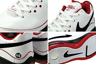 NIKE AIR MAX LEBRON 7 LOW [WHITE/BLACK-S.RED] 写真1