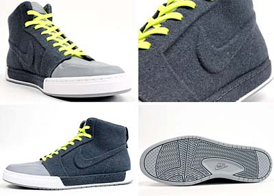 NIKE AIR ROYAL MID VT [DARK GREY/ DARK GREY- STEALTH- VOLT] 写真1