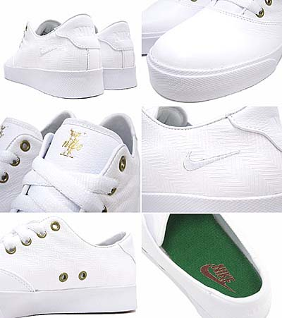 NIKE PEPPER LOW [WHITE/WHITE-VARSITY RED-PINE GREEN] 写真1