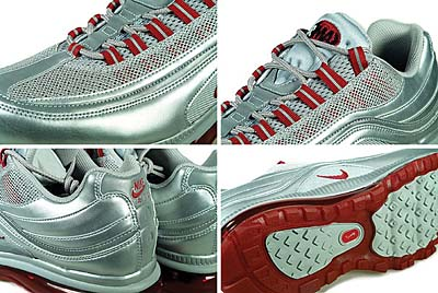 NIKE AIR MAX 24-7 (METALLIC SILVER / VARSITY RED / BLACK) 写真2