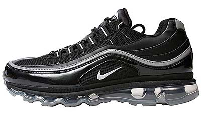 NIKE AIR MAX 24-7 [BLACK/METALLIC SILVER-WHITE] 写真1