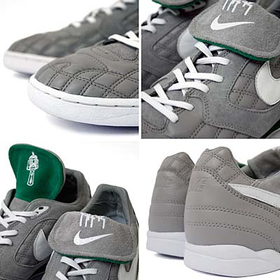 NIKE AIR ZOOM TIEMPO [MEDIUM GREY/WHITE-PINE GREEN] 写真2