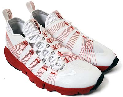 NIKE AIR FOOTSCAPE MOTION [WHITE/RED]
