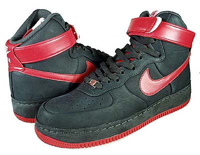 NIKE AIR FORCE 1 HIGH SUPREME [DARK CHACOAL/SPORT RED-LIGHT BONE]