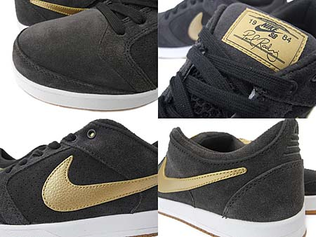 NIKE SB ZOOM PAUL RODRIGUEZ 4 [TAR/METALLIC GOLD] 407437-004 写真1