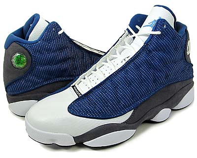 NIKE AIR JORDAN 13 RETRO [FRNCH BL/UNVRSTY BL-FLNT GRY-W]
