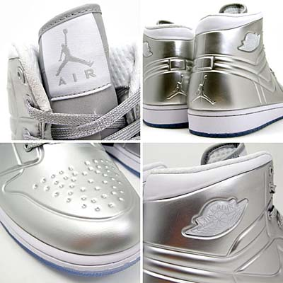 NIKE AIR JORDAN 1 ANODIZED [METALLIC SILVER/WHITE] 414823-001 写真1