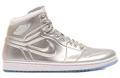 NIKE AIR JORDAN 1 ANODIZED [METALLIC SILVER/WHITE]