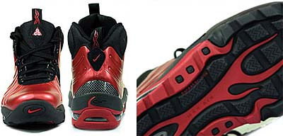 NIKE AIR MAX POSITE BAKIN BOOT [VARSITY RED/BLACK VARS MAIZE] 415327-600 写真1