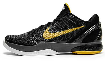 NIKE ZOOM KOBE 6 [BLACK/DELSOL-DARK GREY-WHITE]