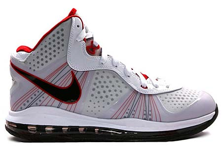 NIKE LEBRON 8 V2 [WHITE/BLACK-SPORT RED]