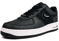 NIKE AIR FORCE 1 LOW PREMIUM LE [BLACK/BLACK-WHITE] (318775-014)