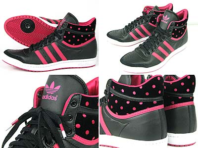 adidas Originals TOP TEN HI SLEEK [BLACK/PINK]