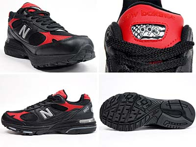 new balance MR993 LBR [BLACK/RED] 写真1