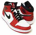 NIKE AIR JORDAN ALPHA 1 [WHITE/BLACK/VARSITY RED] (392813-101)
