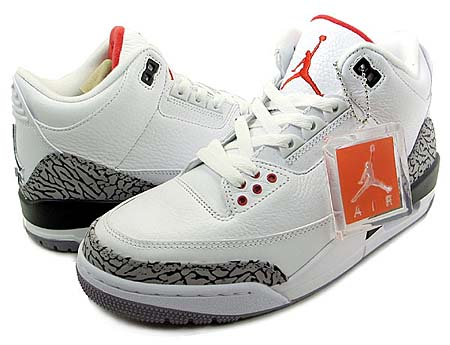 NIKE NIKE AIR JORDAN 3 RETRO [WHITE/FIRE RED-CEMENT GREY-BLACK]