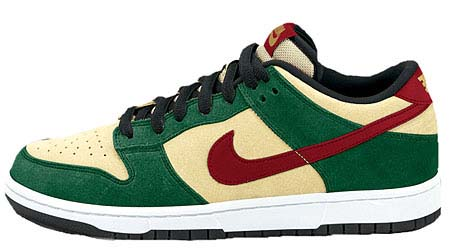 NIKE NIKE DUNK LOW PRO SB [F,GREEN/BEGIE/RED]