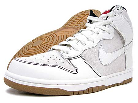 NIKE DUNK HIGH  SAIL WHITE VELVET BROWN BLACK  (407920-106) 1f7ff7438