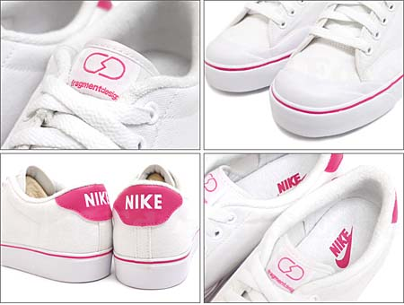 NIKE AIR ZOOM ALL COURT FRAGMENT DESIGN [WHITE/PINK] 411007-104