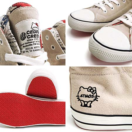 CEDAR CREST x atmos × HELLO KITTY SUEDE DOUBLE FACE [WHITE] 6658 写真1