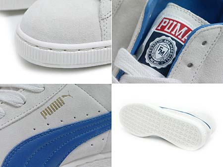 Puma SUEDE MID CLASSIC FRANKLIN & MARSHALL [WHITE/BLUE] 100111 画像1