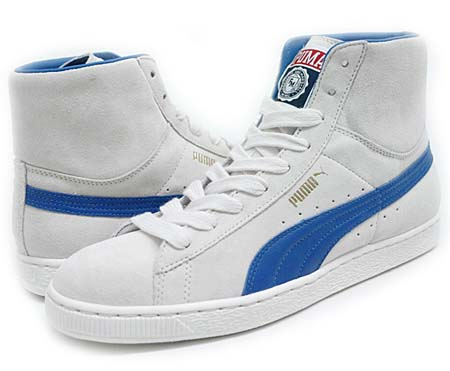 Puma SUEDE MID CLASSIC FRANKLIN & MARSHALL [WHITE/BLUE]