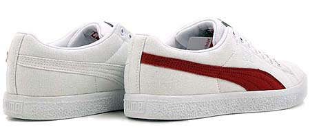 PUMA CLYDE x UNDFTD CANVAS [WHITE/RIBBON RED] 352768 画像1