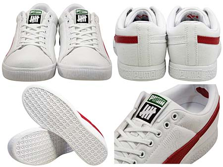PUMA CLYDE x UNDFTD CANVAS [WHITE/RIBBON RED] 352768 画像2