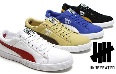 PUMA CLYDE x UNDFTD CANVAS [WHITE/RIBBON RED] 352768 画像3