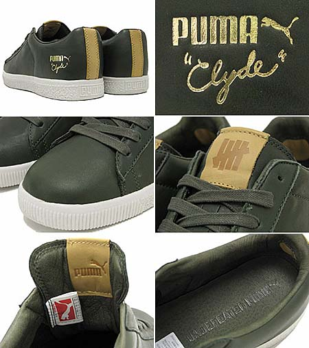 UNDEFEATED x PUMA CLYDE LUXE [FOREST NIGHT/VAP GREY] 352775 画像1
