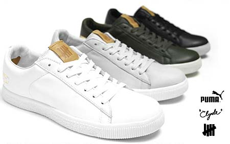 UNDEFEATED x PUMA CLYDE LUXE [FOREST NIGHT/VAP GREY] 352775 画像2