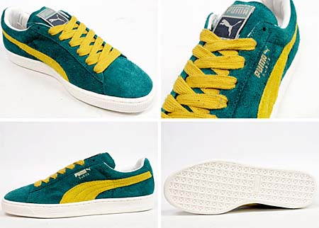 Puma SUEDE VNTG [GREEN/YELLOW] 353549 画像1