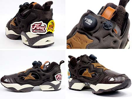 Reebok INSTA PUMP FURY [FLIGHT JACKET PACK|BROWN/WHITE] J82180 写真2