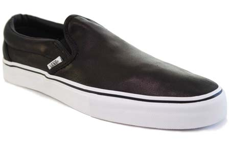 VANS VAULT CLASSIC SLIP-ON LX CALFSKIN [BLACK] 0EY21WP