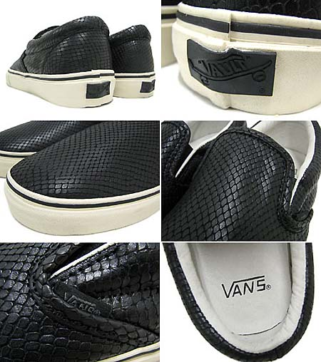 VANS VAULT CLASSIC SLIP-ON LX [SNAKE BLACK] 0EY23GH 写真1