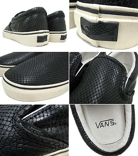 VANS VAULT CLASSIC SLIP-ON LX [SNAKE BLACK] 0EY23GH 写真1