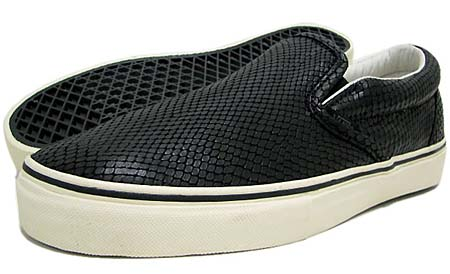 VANS VAULT CLASSIC SLIP-ON LX [SNAKE BLACK] 0EY23GH