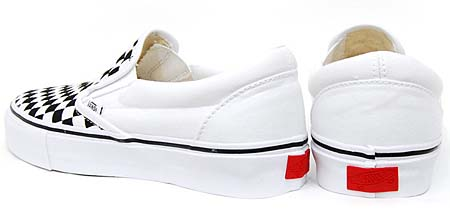 VANS VAULT CLS.SLIP-ON LX WOVEN CHECK [TRUE WHITE/BLACK] 0EY24KB 写真1