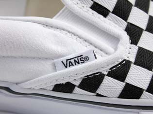 VANS VAULT CLS.SLIP-ON LX WOVEN CHECK [TRUE WHITE/BLACK] 0EY24KB 写真2