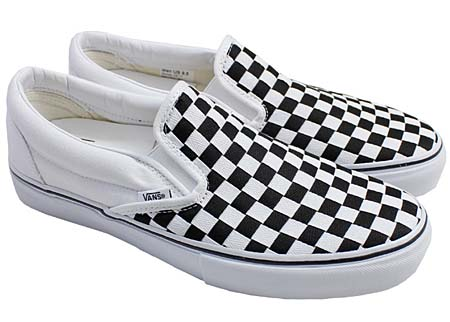 VANS VAULT CLS.SLIP-ON LX WOVEN CHECK [TRUE WHITE/BLACK] 0EY24KB
