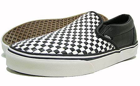 VANS CLASSIC SLIP ON CA MICRO WOVEN [BLACK/WHITE] 0IL5LCC