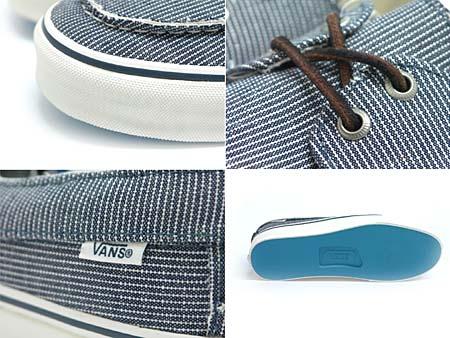 VANS ZAPATO SLIP CA [PINSTRIPE/DRESS BLUE] 0L9W3OJ 写真1
