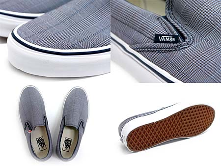 VANS CLASSIC SLIPON SCILLA PLAID [DRESS BLUES/TURE WHITE] 0LYF4I1 写真1
